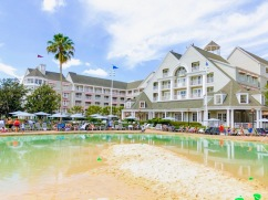 View of Yacht Club Resort, which is closest to the Shallow Sand pool.