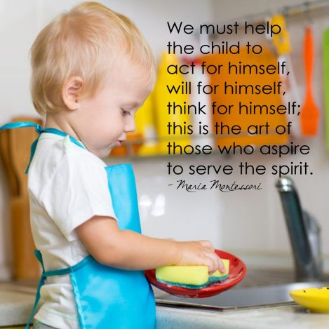 we must help the child to do for himself